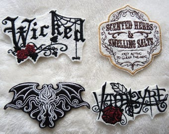 Style Choice - Machine Embroidered Wicked Vampyre More Patch Badge Iron On