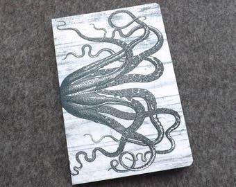 Tentacles Gift Notebook felt blank artist sketch book masculine notepad journal note goth kraken cthulhu octopus sea ocean nautical coastal
