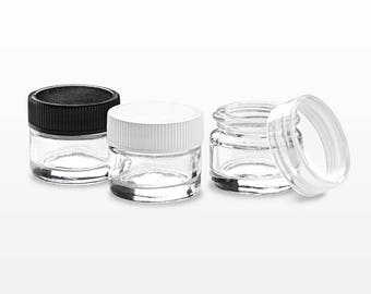 Thick Walled Glass Jars with Threaded Caps - 100 pcs