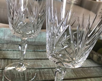 Cristal D'Arques Durand Crystal Water Goblet or Large Wine Glass St. Maxime Pattern Wedding TYCAALAK