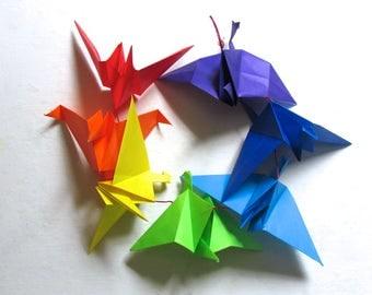 The Chakras II origami crane string