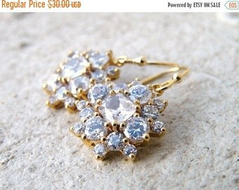 Summer Sale Cushion Cubic Zirconia Gold Filled Earrings IE1