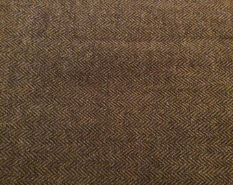 2 2/3 Yards of Vintage Brown Wool Blend Fabric
