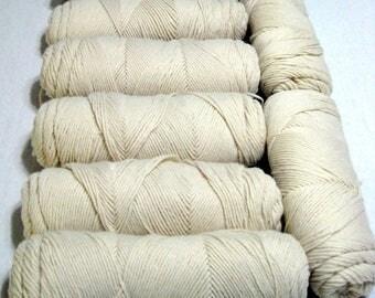 Lot 8 Skeins Acrylic Yarn Vintage Aran