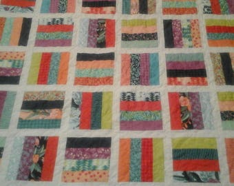 Colorful twin size quilt