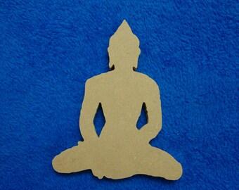 Buddha Cut Out MDF Shape Mosaic Base Unpainted Shape
