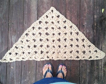Jute Cord Triangle Corner Crochet Rug READY to SHIP