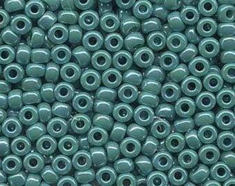 Opaque Turquoise Green AB Miyuki Seed Bead 6/0 20G Tube 6-9412R-TB