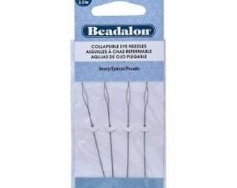 Beadalon Collapsible Eye Needles 2.5-Inch Heavy 4 Pack 700H-100
