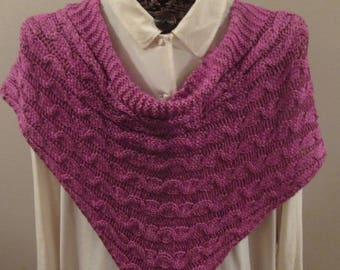 Rose Cables Silk Merino Long Scarf
