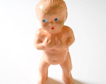 Vintage Doll Miniature Compo • Mini Composition Baby • Frozen Charlotte