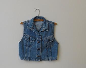 Vintage Lee Jean Vest - Size Small