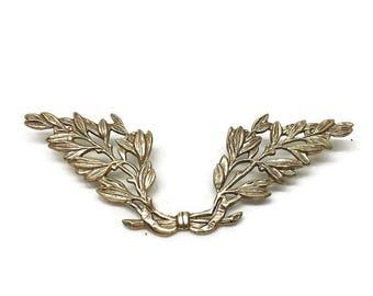 Laurel Wreath Pin | Brass Brooch | Large Brooch | Brass Award | Gift for Men | Graduation