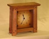 Arts & Crafts, Mission Style Clock - Dark Oak