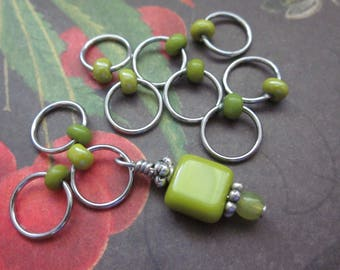 For the Love of Avocado - Non-Snag Stitch Markers - Set of 10