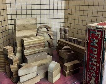 Vintage Empire Express Wooden 50 pc Block Set