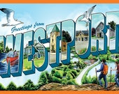 "Westport Ontario Vintage Postcard-Style 11"" x 17"" Print for Charity"