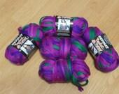 Bernat Twist & Twirl Yarn Color Jazzberry Med #4