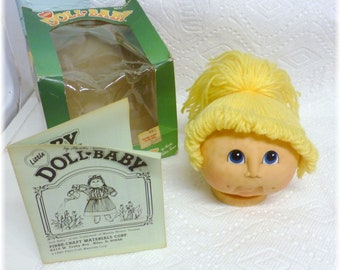 Little Doll Baby, Doll Head by Martha Nelson Thomas 1984 Fibre Craft Some Marks, Discounted