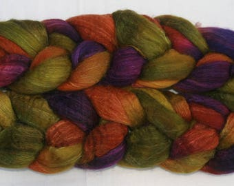 Blueface Leicester Tussah Silk Spinning Fiber - 'Frogsmoor Woods'