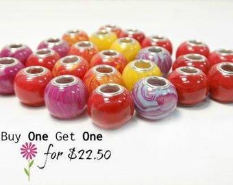 Sale/Funeral Flower Jewelry/Handmade Beads/Memorial Bead/SAVE up to 50.00/Keepsake Jewelry/Flower Petals/Memorial Jewelry/Round Charm