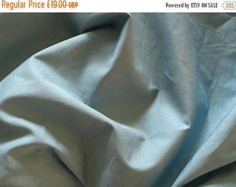 SUMMER SALE Slate blue cotton poplin fabric 3.80 metre length - Made in France