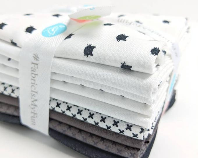 Featured listing image: Black & White FQ Bundle - 8 Fat Quarters