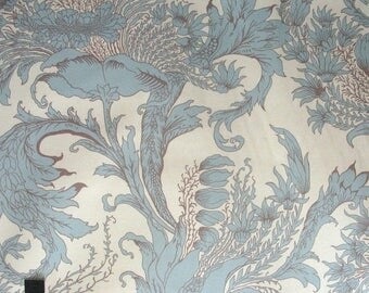 CLEARANCE SALE Vicki Payne Crewel Mineral Cotton HOME Decor Fabric By Yd