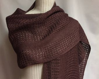 plum lace: handwoven rayon wrap