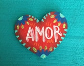 Amor heart magnet