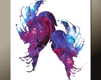 Abstract Bird Art Print Print - Contemporary Modern Wall Art by Destiny Womack  - Soul Mates III - dWo