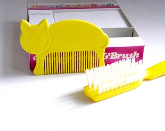 Vintage Happy Comb and Brush NOS