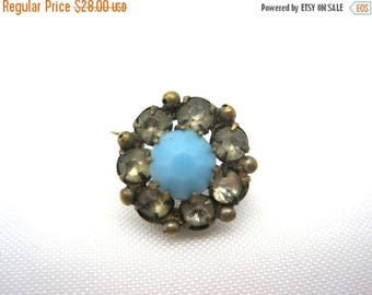 OnSale Antique Victorian Brooch - Turquoise Glass and Paste