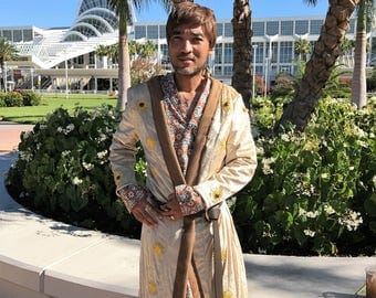 Custom made Oberyn Martell's gold coat robe jacket from Game of Thrones costume