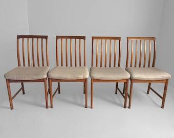 4 danish modern DUX teak dining chairs FOLKE OHLSSON
