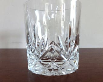 Set of Two, Vintage, Cut Crystal Drinking Glasses