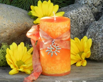 Litha Gold Alchemy Candles Summer Solstice