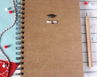 Graduation A5 School Notebook. Graduation. College Notebook. Back to School. University Notebook. Lined Notebook. Spiral Notebooks. Grad.