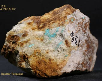 """Old Stock Churchill County Nevada Boulder Turquoise Rough 4.3""""X3.5""""X3"""""""