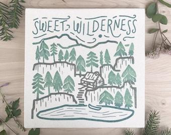 Sweet Wilderness 12 x 12 Canvas Screen Printed Home Decor Wall Art