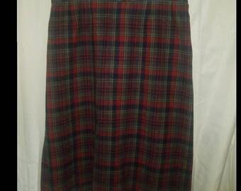 Vintage Pendleton 100% Pure Virgin Wool Skirt Womens