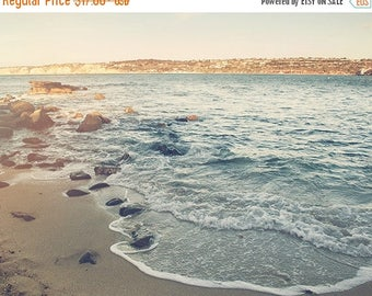 SALE La Jolla photograph, beach photography, beach waves photo, cove, rocks, California seaside, San Diego, vacation, seascape, nautical dec