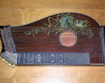 Antique Guitar Zither Antique Musical Instrument