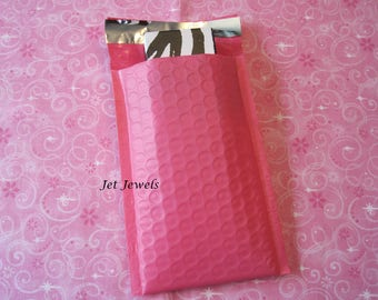25 Bubble Mailers, Hot Pink Bubble Mailers, Pink Padded Mailers, Bubble Mailer, Padded Envelopes, Shipping Envelopes, Bubble Envelopes 4x7