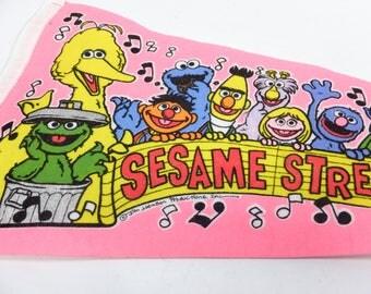 Vintage Sesame Street Live pennant