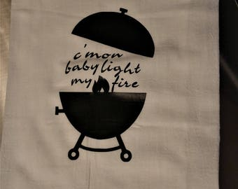 Light My Fire Tea Towel