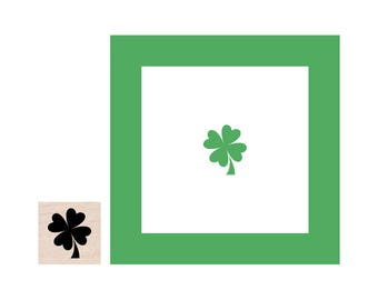 Mini Four Leaf Clover Shamrock Rubber Stamp