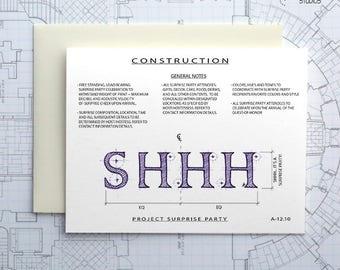 Project Surprise Party Construction - Instant Download Printable Art - Construction Series