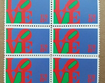 Vintage unused postage stamps - love, 8 cent stamps, a lot of 12 stamps