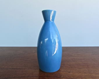 Blue and White Porcelain Sake Bottle, Modern Design Japan